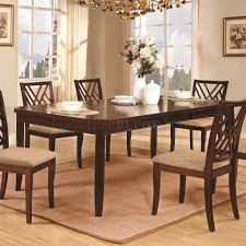 Transitional Dining Room Furniture Mahogany Finish Transitional Dining Table W Optional Items