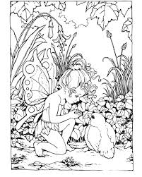 lovely free printable fairy coloring pages for adults 83 for