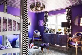 interior purple wall paint house ideas yellow color design
