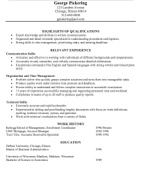 Logistics Specialist Resume Sample by Example Of Accounts Receivable Specialist Resume Http