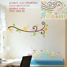 Removable Wall Decals For Nursery by Owl Wall Stickers For Kids Room Decorations Animal Decals Bedroom