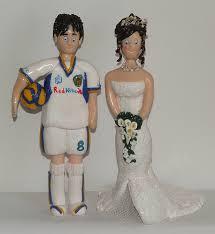 wedding cake leeds wedding cake topper groom dressed in leeds football