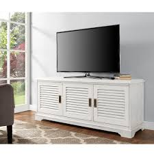 Home Design Furniture Company by Walker Edison Furniture Company Louvered White Entertainment