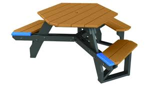 recycled plastic wheelchair accessible hex table treetop products