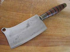 fine custom carbon steel huge chef butcher meat cleaver meat