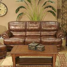 leather sofa with nailheads lg interiors cowboy transitional warm brown leather sofa with