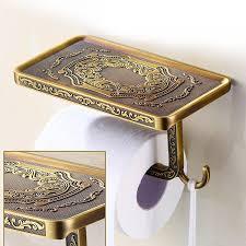 Toilet Paper Holder With Shelf Home Design Toilet Roll Holder Inside Antique Paper 93