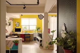 colorful studio apartment not your average basement nonagon style