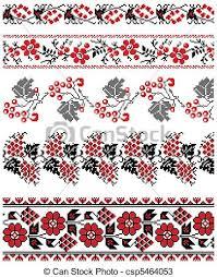 ukrainian ornaments vector illustrations of ukrainian embroidery ornaments vectors