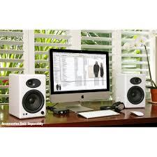 Bookshelf Powered Speakers Audioengine A5 White Pr Powered Bookshelf Speakers Huppin U0027s