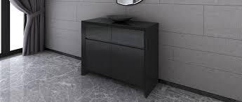 soho medium sideboard black high gloss