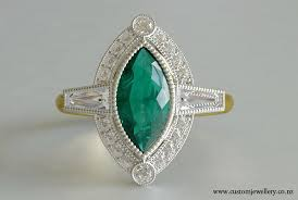 emerald rings uk emerald marquise baguette diamond deco ring new zealand