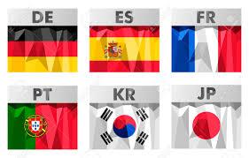Korea Flag Icon Germany Spain France Portugal South Korea Japan Flags Icons
