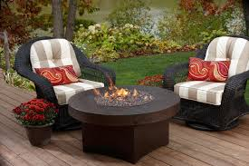 exterior granite top costco fire pit on wooden floor and wicker