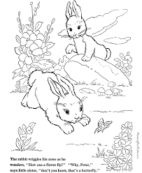 Rabbit Coloring Pages To Print And Color 015 Rabbit Colouring Page