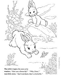rabbit coloring pages print color 015