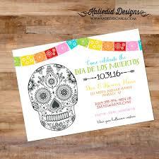day of the dead invitation dia de los muertos halloween fiesta