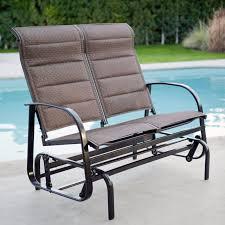 Patio Rocking Chairs Outdoor Glider Rocking Chair 2 Person Loveseat Rocker Bench Deck