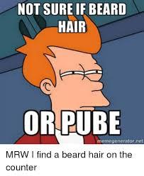 Meme Generator Not Sure If - not sure if beard hair or pube memegeneratornet beard meme on