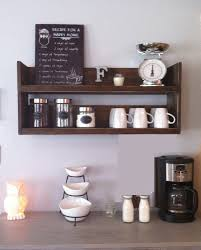 Reclaimed Wood Shelves by Rustic Kitchen Shelf Coffee Shelf Coffee Bar Shelf