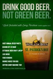 world of beer st patrick u0027s day party raleigh citizen