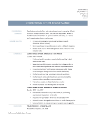 Correctional Officer Resume Examples by Correctional Officer Resume Free Resume Example And Writing Download
