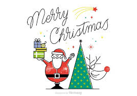 free merry christmas vector card download free vector art stock