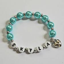 infant name bracelet name bracelet children s jewelry personalized bracelet with heart