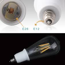 Outdoor Light Bulb Socket Adapter by Jackyled 2 Pack E12 To E26 E27 Adapter Chandelier Light Socket E12