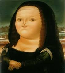 this is mona lisa by fernando botero who is renowned for his