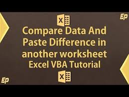 compare two worksheets and paste differences to another sheet