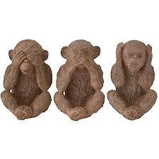 three wise monkeys ornament by kaleidoscope kaleidoscope