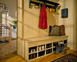 mudroom storage bench entry traditional with beadboard built ins