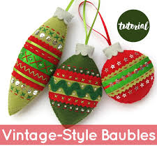 bugs and fishes by lupin free tutorial felt christmas baubles