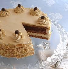 hazelnut almond mocha dacquoise meringue cake craftybaking