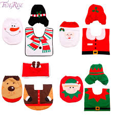 Santa Claus Rugs Aliexpress Com Buy Fengrise 3pcs Fancy Santa Claus Toilet Seat