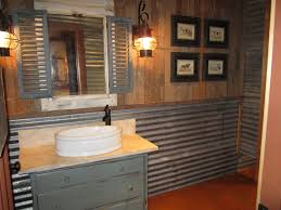 Rustic Bathrooms Remodel Rustic Bathroom With Pallet Wall And Corrugated Tin By