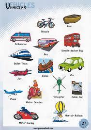 vehicle names transportation vocabulary