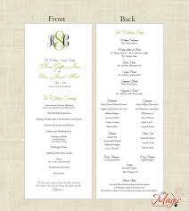 one page wedding programs printable diy wedding programs simple but by littlemagiccards