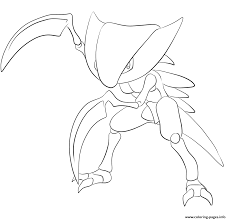 141 kabutops pokemon coloring pages printable