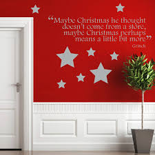 christmas grinch quote wall sticker by ta dah wall art christmas grinch quote wall sticker