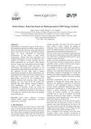 brain tumor detection based on multi parameter mri image analysis