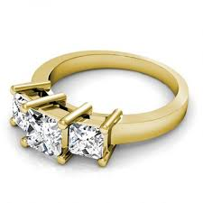 rings with stones images 0 30ct princess cut diamonds three stone ring in i j in color jpg