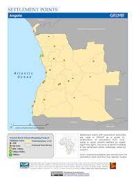 Angola Map Maps Global Rural Urban Mapping Project Grump V1 Sedac
