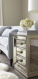mirror tables for living room bedroom cream furniture mirrored end table with drawers stylish home
