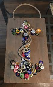 anchor bottle cap wall hanging by lucyskydesigns on etsy crafts