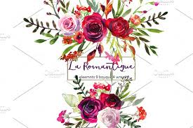 burgundy flowers burgundy pink flowers clipart illustrations creative market