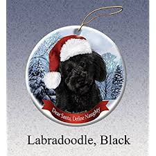 black labradoodle ornament a great gift for black