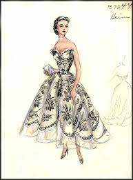 vintage fashion design sketches bergdorf goodman house of retro