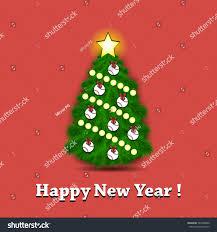 happy new year tree ornaments stock vector 545488840